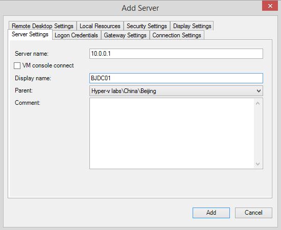 add server server setting