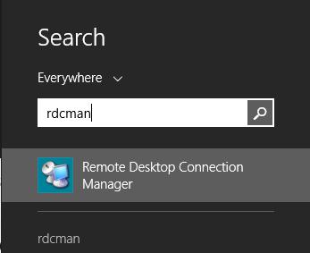 find rdcman