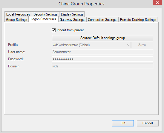 china group logon inherit