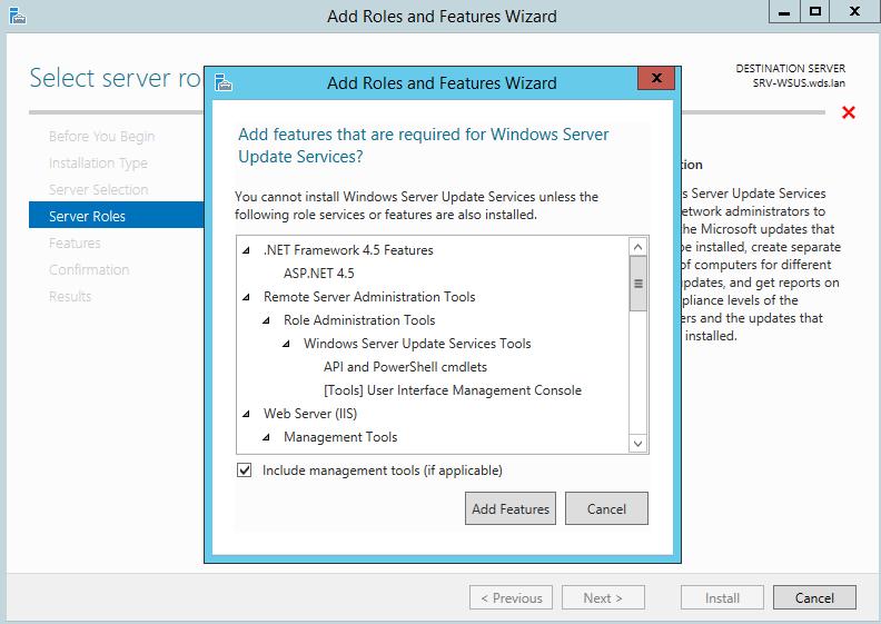 Windows Server 2012 R2 : WSUS Installation & first step